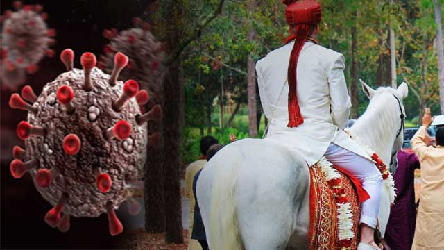 covid Infected groom pilibhit