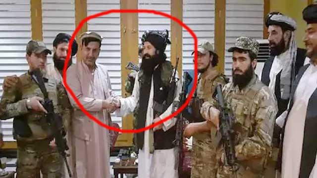 Hashmat Ghani Ahmadzai with Taliban