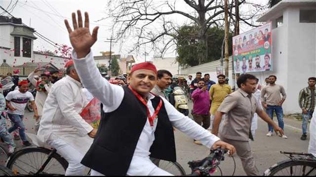 Samajwadi Party Cycle Yatra Rally