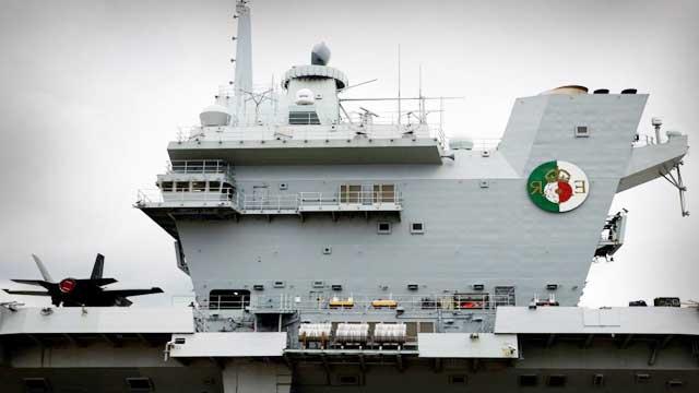 Britain aircraft carrier HMS Queen Elizabeth reached Japan